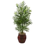 Nearly Natural 4.5'H Areca Palm Tree in Weave Planter (5981)