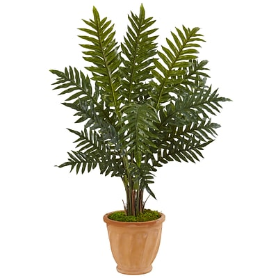 Nearly Natural 4' Evergreen Plant in Terracotta Planter (6317)