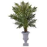 Nearly Natural 4.5' Evergreen Plant in Gray Urn (6320)