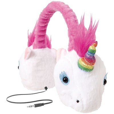 ReTrak ETAUDFUNIC Retractable Animalz Headphones, Unicorn