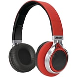 2BOOM HPBT900R LED Lightboom Bluetooth Stereo Headphones, Red