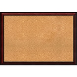 Amanti Art Extra Large Rubino Cherry Scoop 39W x 27H Framed Cork Board (DSW2899103)