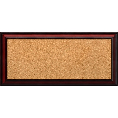 Amanti Art Panel Rubino Cherry Scoop 33W x 15H Framed Cork Board (DSW2967301)