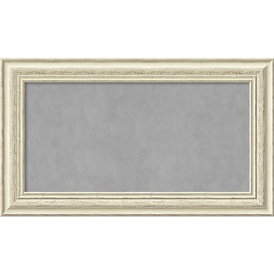 Amanti Art Framed Magnetic Board Medium Country White Wash 29W x 17H Frame White (DSW2968286)