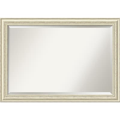 Amanti Art Wall Mirror Extra Large Country White Wash 41W x 29H Frame White (DSW2968493)
