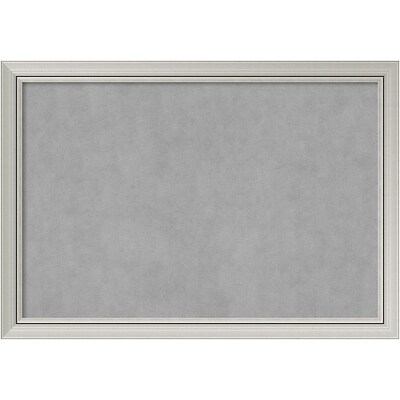 Amanti Art Framed Magnetic Board Extra Large Romano Silver 40W x 28H Frame Silver (DSW2977653)