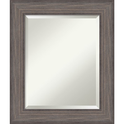 Amanti Art Wall Mirror Medium Country Barnwood 22W x 26H Frame Rustic Gray (DSW3572110)