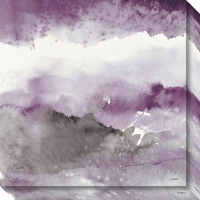 Amanti Art Canvas Art Gallery Wrap Midnight at the Lake III Amethyst and Grey by Mike Schick 20 x 20H (DSW3642813)