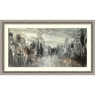 Amanti Art Framed Art Print City of the Century  by Tatiana Iliina  43 x 25  Frame Silver (DSW3894363)