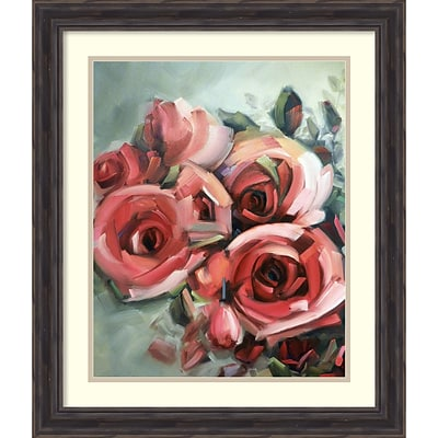 Amanti Art Framed Art Print Amid Scent of Roses by Holly Van Hart 23W x 27H, Frame Rustic Pine (DSW3902396)