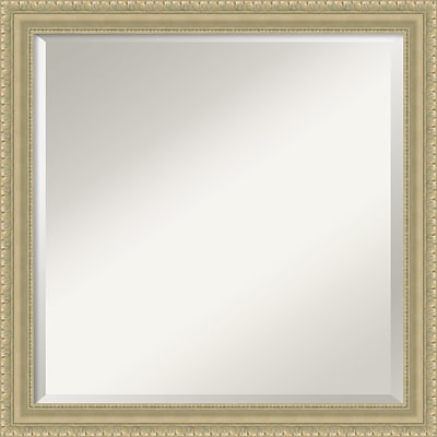 Amanti Art Wall Mirror Square Champagne Teardrop 23W x 23H Frame Champagne (DSW3904525)