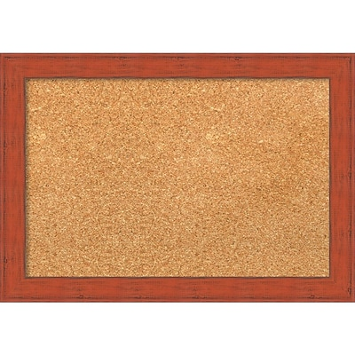 Amanti Art Small Bourbon Orange Rustic 20W x 14H Framed Cork Board (DSW3904536)