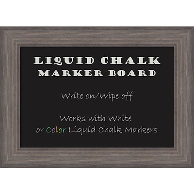 Amanti Art Framed Liquid Chalk Marker Board Medium Country Barnwood 30W x 22H Frame Wood (DSW3907405)
