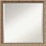 Amanti Art Wall Mirror Square Fluted Champagne 22W x 22H Frame Gold (DSW3907417)