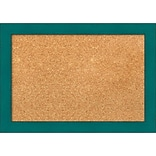 Amanti Art Small French Teal Rustic 20W x 14H Framed Cork Board (DSW3907421)