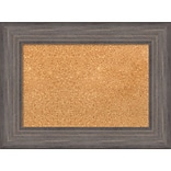 Amanti Art Small Country Barnwood 24W x 18H Framed Cork Board (DSW3907431)