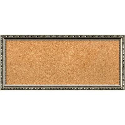 Amanti Art Panel Parisian Silver 33W x 15H Framed Cork Board (DSW3907447)