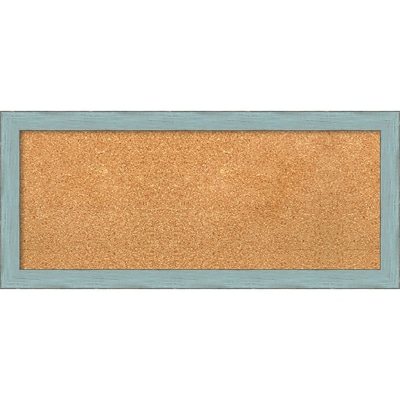 Amanti Art Panel Sky Blue Rustic 33W x 15H Framed Cork Board (DSW3907474)