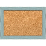 Amanti Art Small, Sky Blue Rustic 21W x 15H Blue Framed Cork Board (DSW3907475)