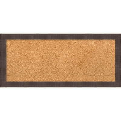 Amanti Art Panel Whiskey Brown Rustic 32W x 14H Framed Cork Board (DSW3907815)