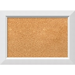Amanti Art Small Blanco White 21W x 15H Framed Cork Board (DSW3908046)