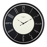 "Studio Designs Home Modern Raised Numeral Wall Clock 29"" Black (73000)"