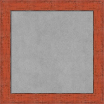 Amanti Art Small Square Bourbon Orange Rustic 14W x 14H Framed Magnetic Board (DSW3908054)