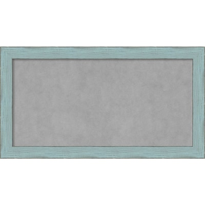 Amanti Art Medium Sky Blue Rustic 27W x 15H Framed Magnetic Board (DSW3908061)