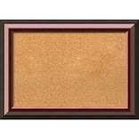 Amanti Art Medium, Cambridge Mahogany 28W x 20H Framed Cork Board (DSW3908068)