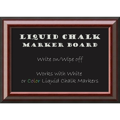 Amanti Art Framed Liquid Chalk Marker Board Medium Cambridge Mahogany 28W x 20H Frame Mahogany (DSW3908069)
