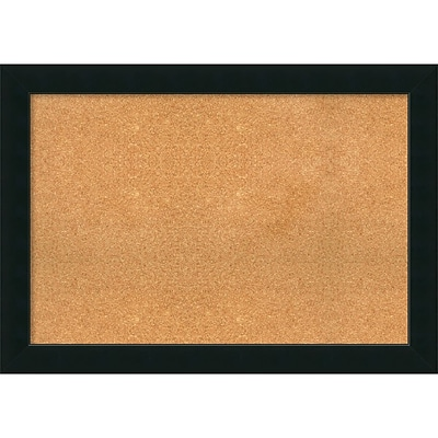 Amanti Art Extra Large Corvino Black 41W x 29H Framed Cork Board (DSW3908088)