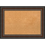 Amanti Art Medium Cyprus Walnut 29W x 21H Framed Cork Board (DSW3908098)