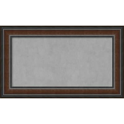 Amanti Art Framed Magnetic Board Medium Cyprus Walnut 29W x 17H Frame Walnut (DSW3908100)