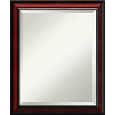 Amanti Art Wall Mirror Medium Rubino Cherry Scoop 19W x 23H Frame Cherry (DSW3908313)