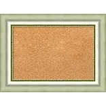 Amanti Art Small Vegas Burnished Silver 23W x 17H Framed Cork Board (DSW3908333)