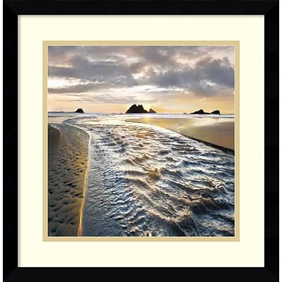 Amanti Art Framed Art Print A Thousand Miles by William Vanscoy 17 x 17H, Frame Satin Black  (DSW3908947)