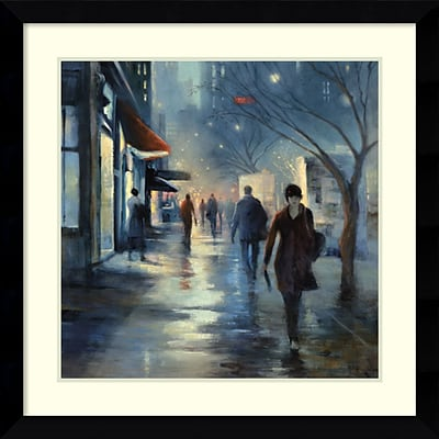 Amanti Art Framed Art Print Broadway at Dusk by Carol Jessen 33 x 33 Frame Satin Black  (DSW3908974)