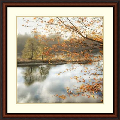 Amanti Art Framed Art Print Morning Mirror 2 by Dianne Poinski 33 x 33H, Frame Walnut (DSW3908995)