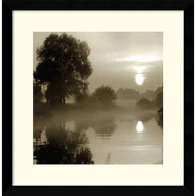 Amanti Art Framed Art Print Reflections of the Sun by Steven Mitchell  17 x 17 Frame Satin Black  (DSW3909005)