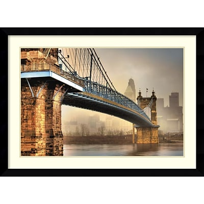 Amanti Art Framed Art Print Foggy Roebling by Jason Bohrer 45 x 33 Frame Satin Black (DSW3909038)