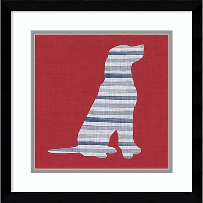 Amanti Art Framed Art Print Lakeside Silhouette IV (Dog) by Grace Popp 17W x 17H Frame Satin Black (DSW3909154)