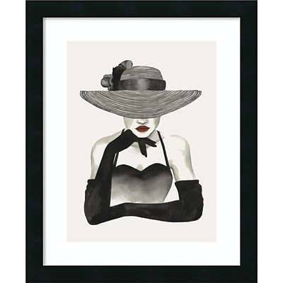 Amanti Art Framed Art Print In Vogue II by Grace Popp 18 x 22 Frame Satin Black  (DSW3909181)