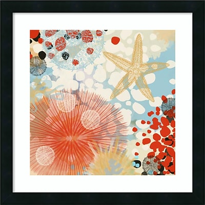 Amanti Art Framed Art Print Exotic Sea Life II by Irena Orlov, 22W x 22H, Frame Satin Black  (DSW3909203)