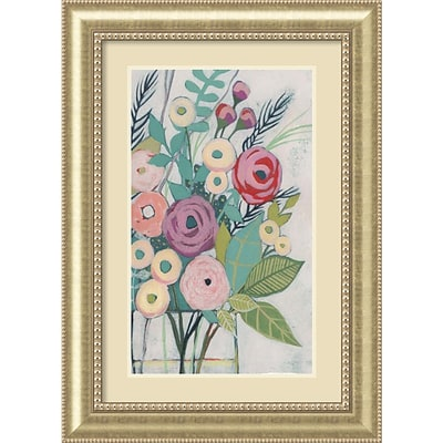 Amanti Art Framed Art Print Soft Spring Bouquet I (Floral) by Grace Popp 31W x 43H, Frame Champagne (DSW3909374)
