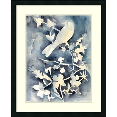 Amanti Art Framed Art Print Hedgerow II (Bird) by Chariklia Zarris 26W x 32H,  Satin Black Frame (DSW3909383)