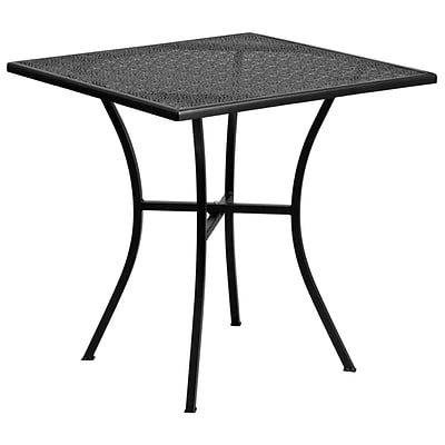 Flash Furniture 28 Square Black Steel Patio Table (CO5BK)