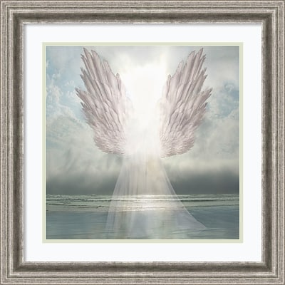 Amanti Art Framed Art Print I Am Guided (Angel) by David M (Maclean) 23W x 23H Frame Silver Pewter (DSW3909461)