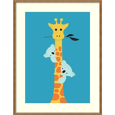 Amanti Art Framed Art Print Ill Be Your Tree (Giraffe) by Jay Fleck 27W x 35H Frame Natural Maple (DSW3909486)