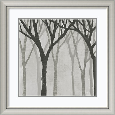 Amanti Art Framed Art Print Spring Trees Greystone I by Kathrine Lovell 30 x 30H, Frame Silver (DSW3909698)