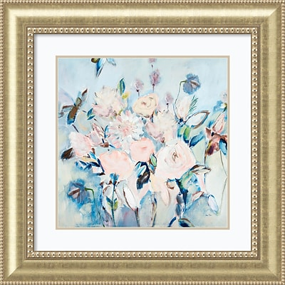 Amanti Art Framed Art Print Sweetness and Light II v2 (Floral) by Joan E. Davis 33W x 33H, Frame Champagne (DSW3909723)